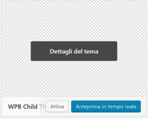 Attiva tema child - Tema child