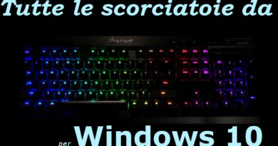 Scorciatoie tastiera windows 10