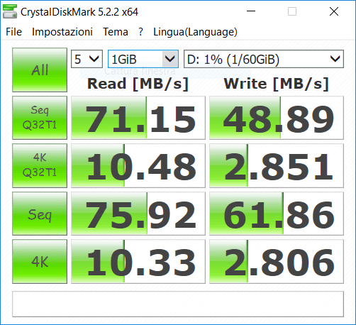 morefine m1s - Test microsd