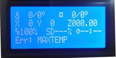 Tevo Tarantula Problemi e soluzioni stampante 3D - LCD MAX TEMP