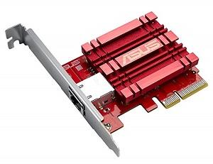 Una rete LAN a 10 Gigabit (10 GbE) in casa - Scheda Asus