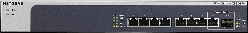 Una rete LAN a 10 Gigabit (10 GbE) in casa - Switch 8 porte