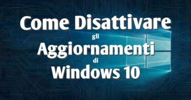 Come disattivare aggiornamenti windows 10 - Copertina