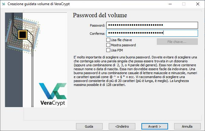 chiavetta usb con password - Password Volume