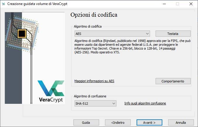 Come criptare USB - Tipo Crittografia