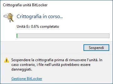 Chiavetta USB criptata - Crittografando